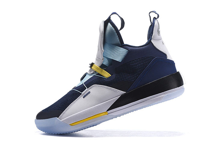 Air Jordan 33 XXXIII Navy Blue/White-Mint Green-Yellow