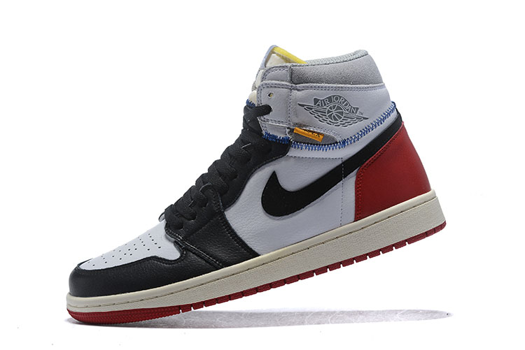 Union x Air Jordan 1 Retro High OG NRG White/Varsity Red-Wolf Grey-Black BV1300-106