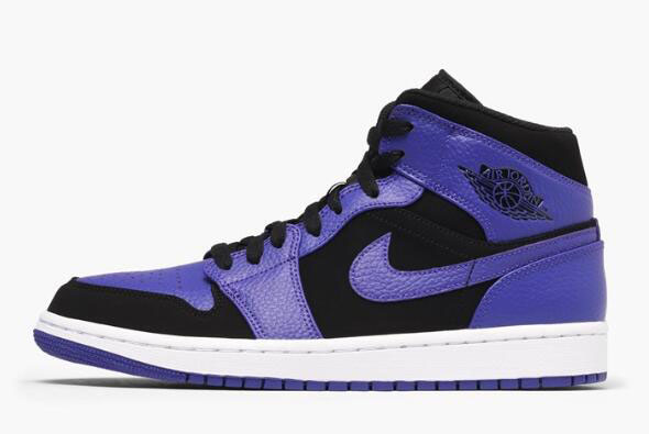Air Jordan 1 Mid Black/Dark Concord-White 554724-051