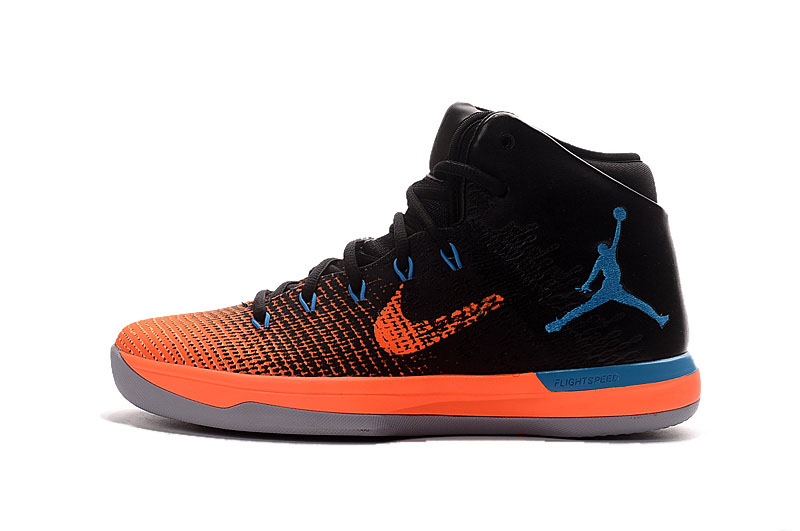 Air Jordan XXX1 Black/Orange-Blue-Grey