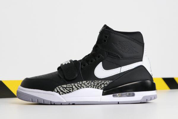 "Don C x Jordan Legacy 312 ""Black Cement"" Black/White AV3922-001"