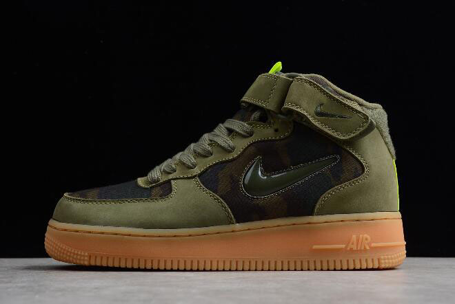 "Nike Air Force 1 Jewel Mid ""Country Camo"" Medium Olive/Dark Army-Volt AV2586-200"