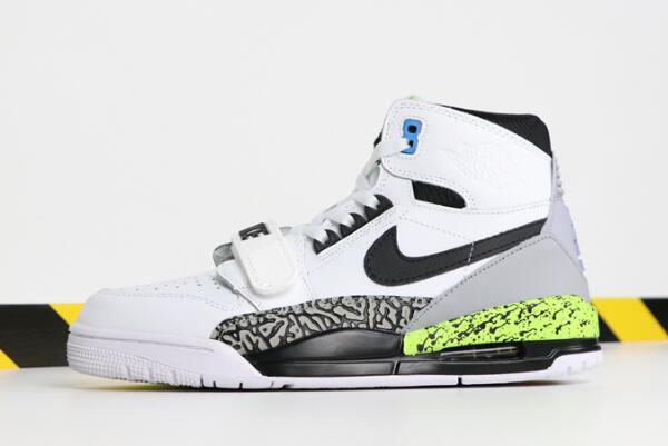 "Don C x Jordan Legacy 312 ""Command Force"" White/Black-Volt-Vivid Blue AQ4160-107"