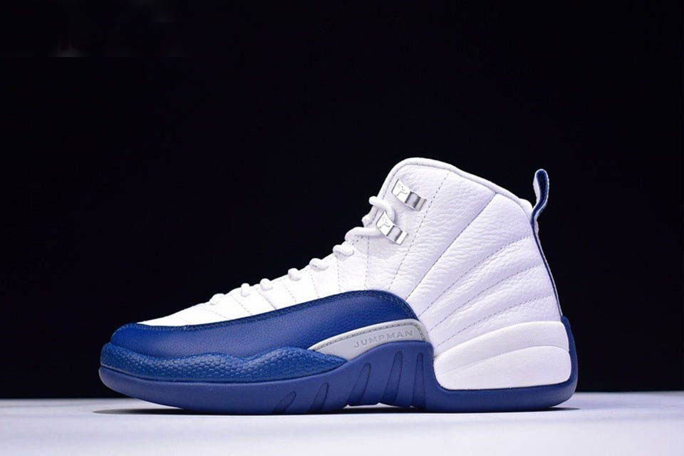 Air Jordan 12 Retro French Blue White/French Blue-Metallic Silver-Varsity Red 130690-113