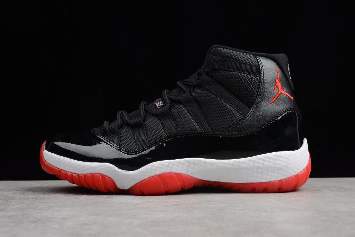 Air Jordan 11 Retro Bred Black/Varsity Red-White 378037-010