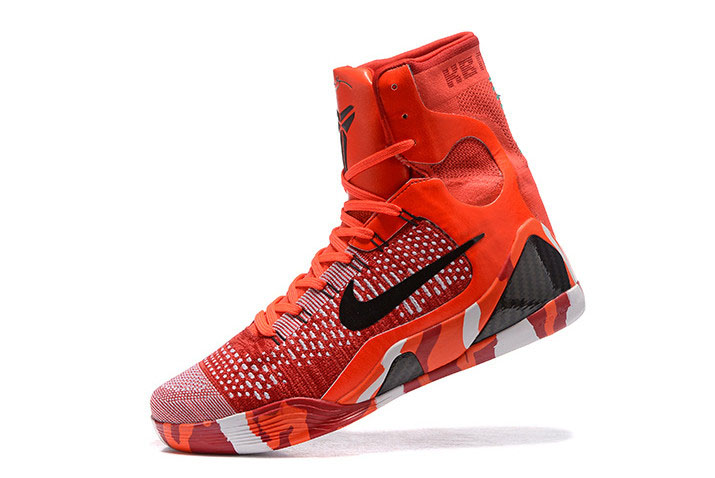 "Nike Kobe 9 Elite ""Christmas"" Bright Crimson/Black-White 630847-600"