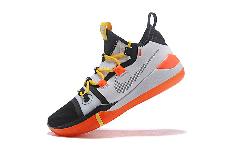 Newest Kobe Bryant's Nike Kobe AD Black/White-Yellow-Orange