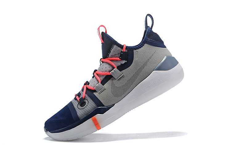 Kobe Bryant's Newest Nike Kobe AD Grey/Navy Blue-White-Crimson