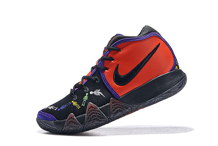 "Nike Kyrie 4 ""Day of the Dead"" Team Orange/Black-Multi-Color CI0278-800"