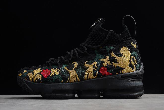 "KITH x Nike LeBron 15 Performance ""Closing Ceremony"" Black/Multi-Color AJ3936-002"