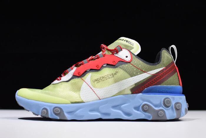 "Undercover x Nike React Element 87 ""Volt"" Volt/University Red-White BQ2718-700"