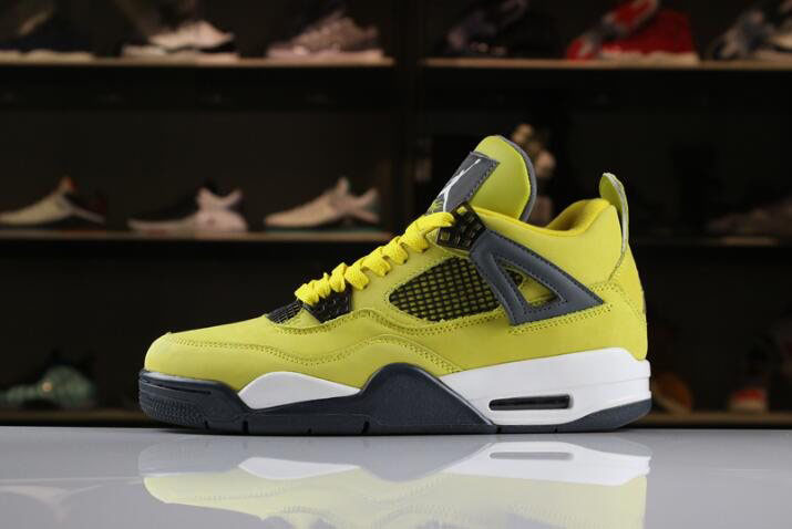 2018 Air Jordan 4 Lightning Tour Yellow/Dark Blue-Grey-White 314254-702