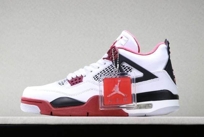 2019 Air Jordan 4 Fire Red White/Varsity Red-Black For Sale