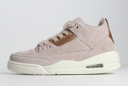 Air Jordan 3 WMNS Particle Beige/Metallic Red Bronze-Sail AH7859-205