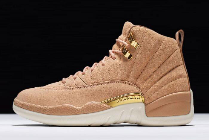 Air Jordan 12 GS Vachetta Tan/Metallic Gold-Sail AO6068-203