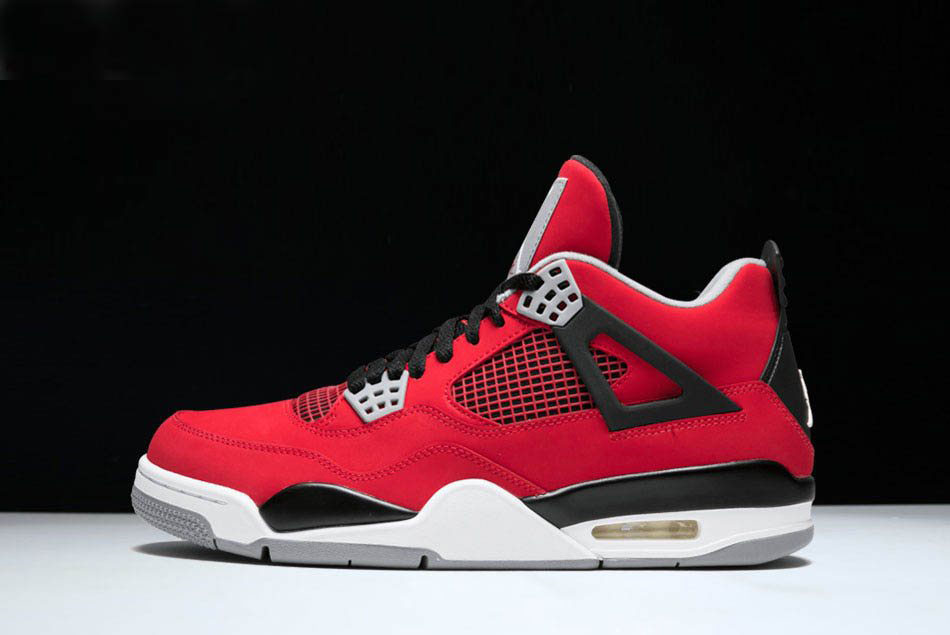 New Air Jordan 4 Retro Toro Bravo Fire Red/White-Black-Cement Grey 308497-603