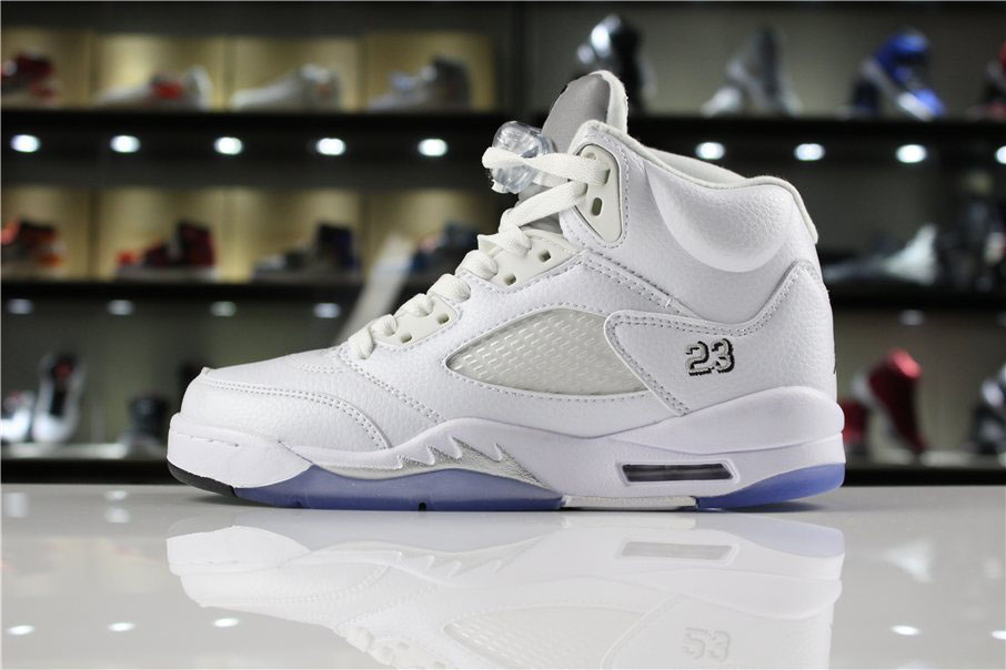 Air Jordan 5 Retro Metallic Silver 136027-130 Mens and WMNS Shoes
