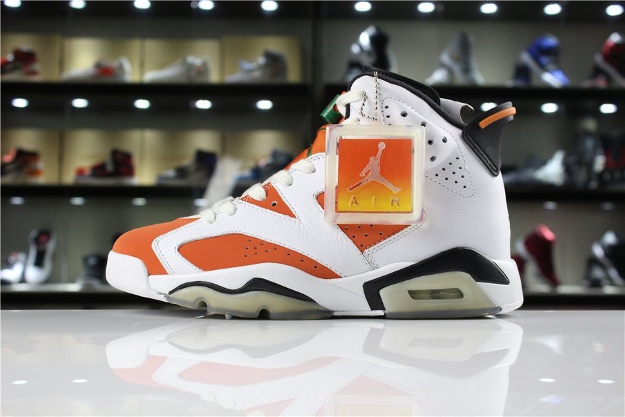 New Air Jordan 6 Gatorade Summit White/Black-Team Orange For Sale