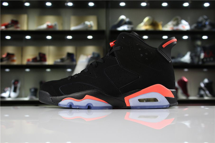 Mens and Womens Air Jordan 6 Retro Black/Infrared 23 For Sale