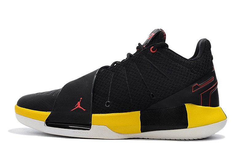 Chris Paul's Jordan CP3.XI Taxi Black/White-Tour Yellow-Uuniversity Red AA1272-002