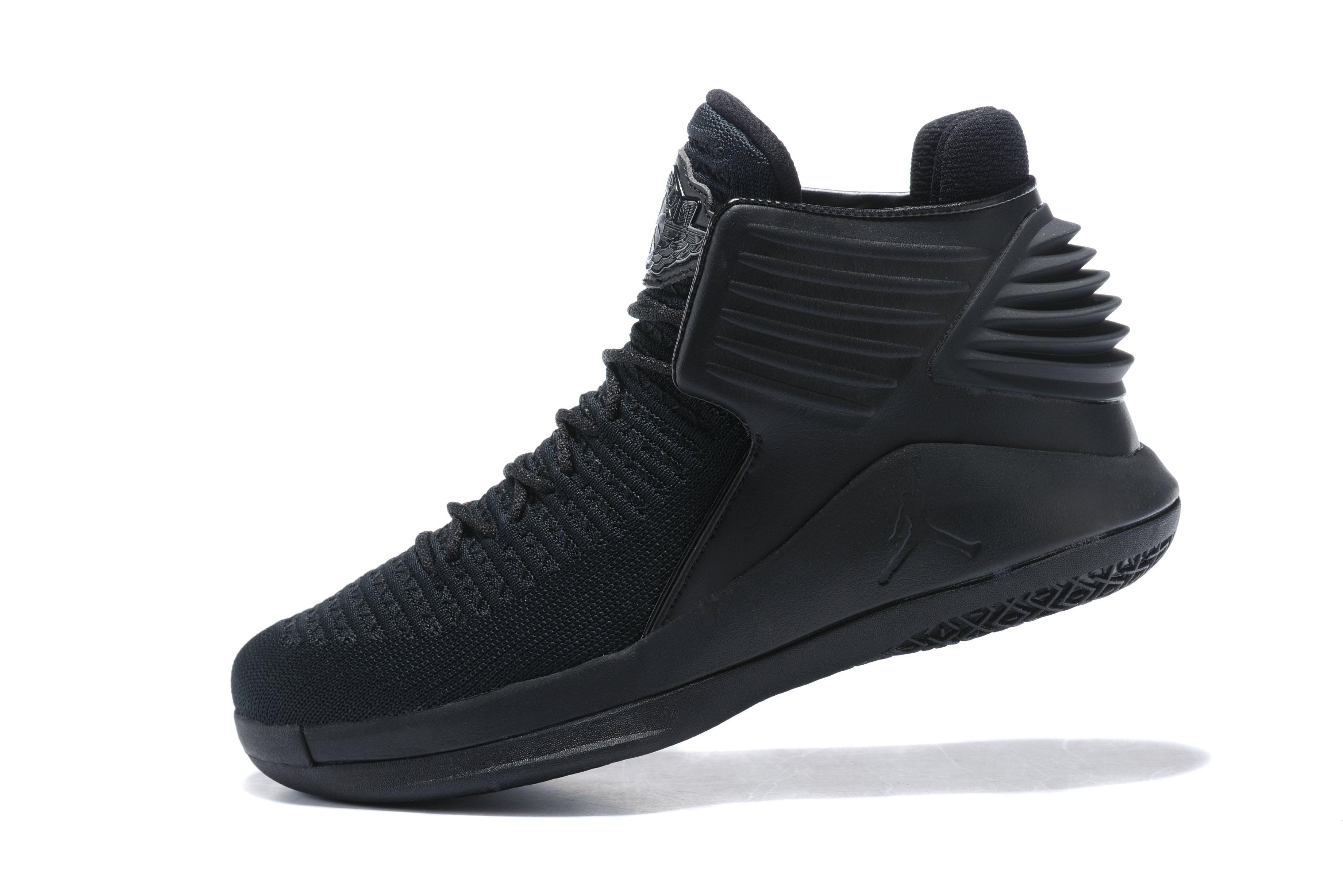 30a93844c7ac Latest Air Jordan 32 Triple Black Men s Basketball Shoes