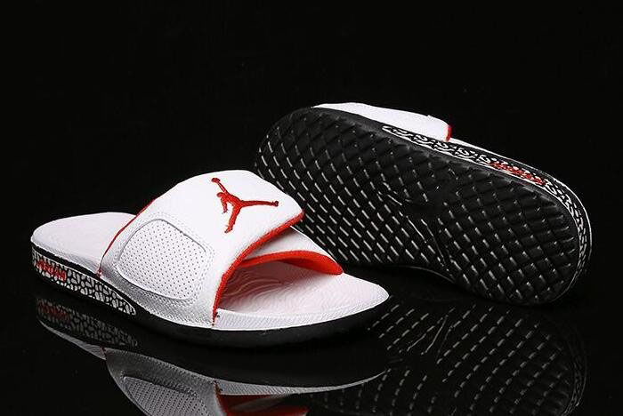 New Air Jordan Hydro 3 III Retro Slide White/University Red-Black 854556-103