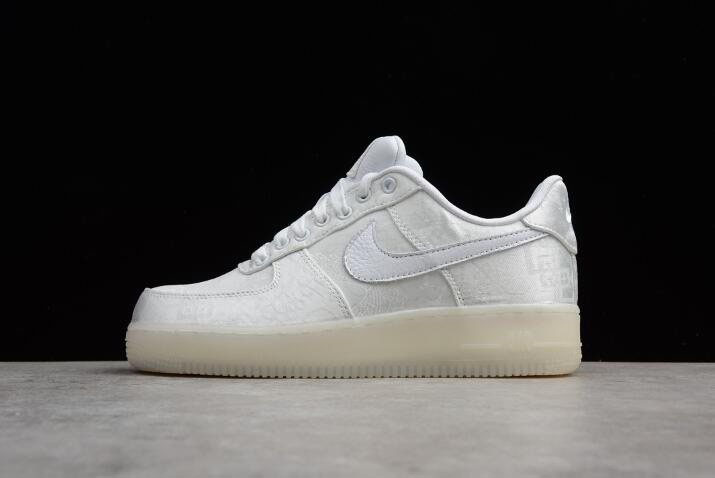 Men's and Women's CLOT x Nike Air Force 1 Premium Triple White AO9286-100