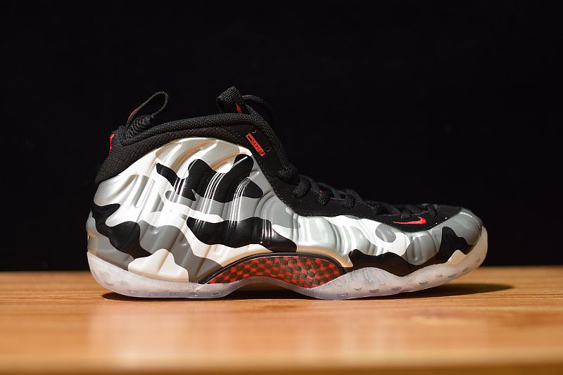 Nike Air Foamposite One PRM Fighter Jet Black/Hyper Red-Dark Grey-White 575420-001