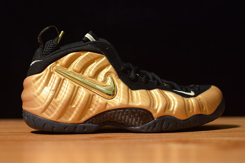 Nike Air Foamposite Pro Metallic Gold Metallic Gold/Black-White 624041-701