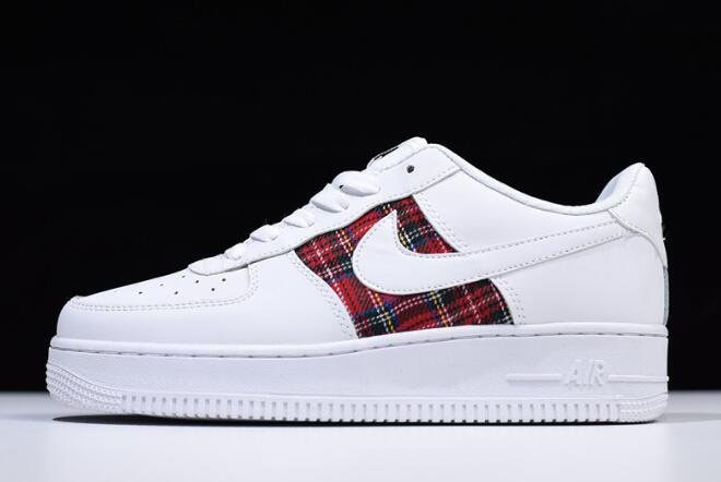 Nike Air Force 1 '07 LV8 Flannel White Red Black For Sale