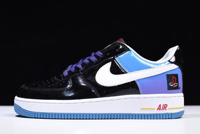 Nike Air Force 1 Low Playstation Black/Blue/White/Purple/Varsity Red 306096-056